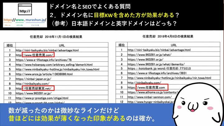 日本語ドメインと英字ドメインのSEOの差はほとんどない